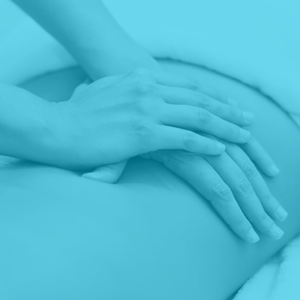 Physiotherapy massage of lower back